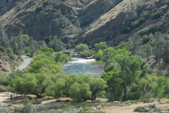 Corral Creek Lodge: River from Property