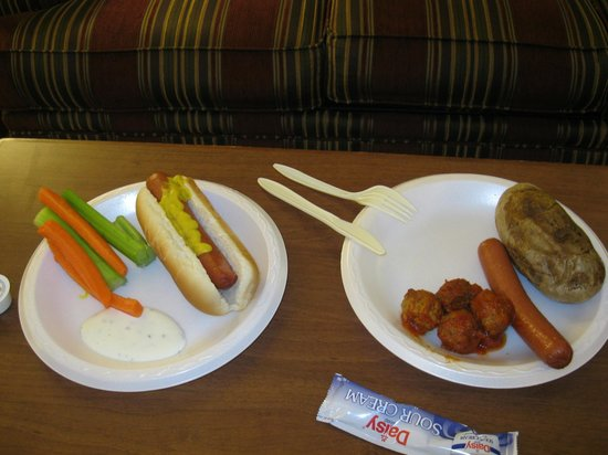 Drury Inn & Suites Greenville:                   evening food from downstairs