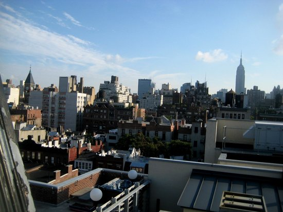 Washington Square Hotel:                   View from secret rooftop.