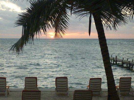 Banana Beach Resort:                   View from our room - Caribbean sunrise