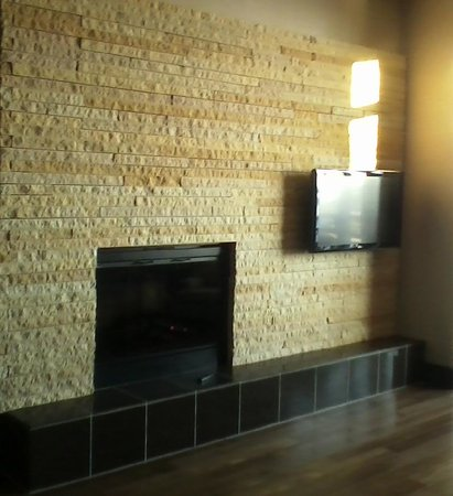 Grand Falls Casino and Golf Resort:                   FIREPLACE IN THE LIVING AREA OF THE SUITE