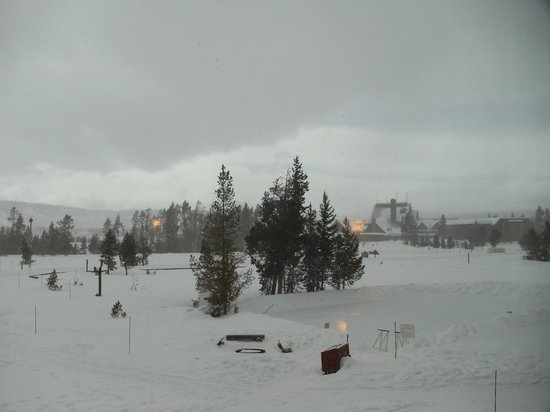 Old Faithful Snow Lodge and Cabins:                   Another view from the room