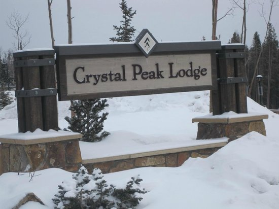Crystal Peak Lodge:                   Welcome Sign