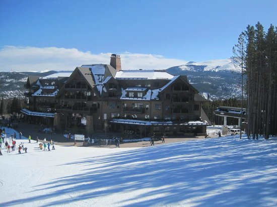 Crystal Peak Lodge:                   View of lodge from slopes