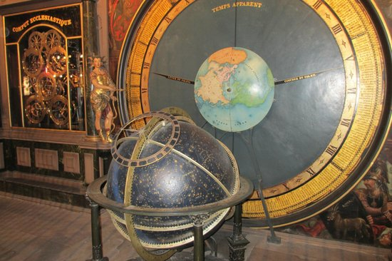 Catedral de Notre Dame de Estrasburgo:                   The Globe of the Astronomical Clock