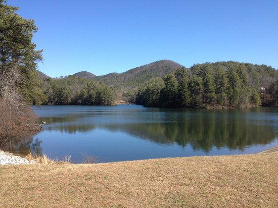 Unicoi State Park & Lodge:                   along the lake trail