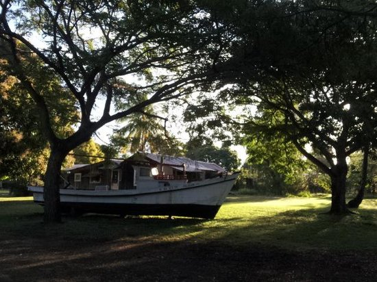old boat and cottage at Waimea Plantation Cottages