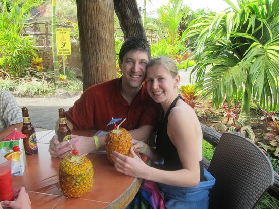 Los Lagos Hotel Spa & Resort:                   Enjoying a piña colada