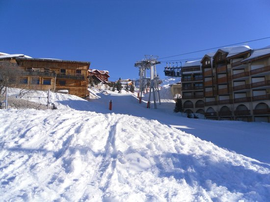 Chalet Viking :                                     View from the bottom of the 'ski in/out' run