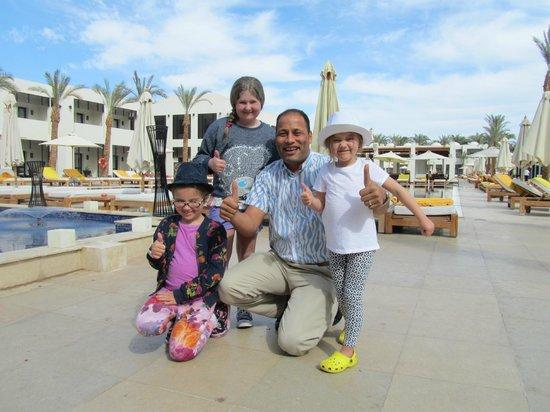 SENTIDO Reef Oasis Senses Resort:                   Our wonderful Restaurant manager Tarek & the kids