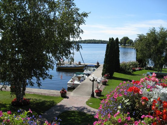 The Gananoque Inn and Spa: View from Watermark Restaurant terrace