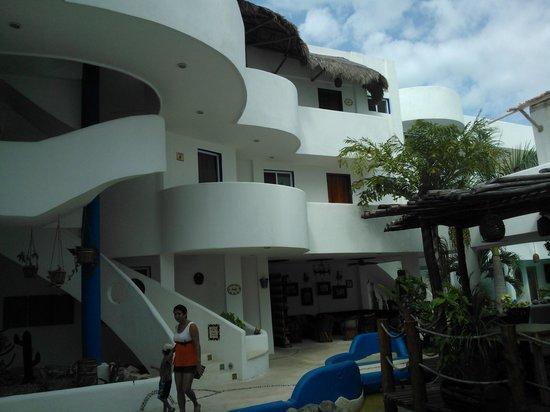 Koox Matan Ka'an Hotel:                   Parte del interior del hotel