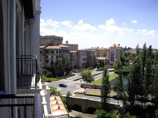 Southern Sun Montecasino:                   view from our little balcony