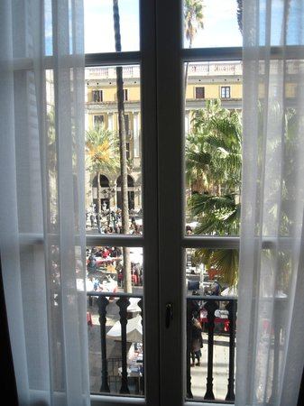 Hotel DO:                   view from room to the Placa