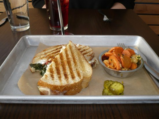 The Grove Cafe & Market: Grilled cheese in greens