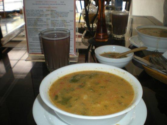 Bhakti Vegetariano-Vegan Resturant:                   veggie soup