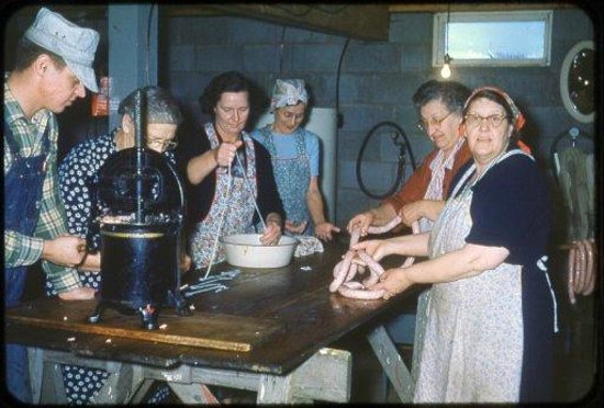 The Wiener's Circle: This was the very first sausage making class!!