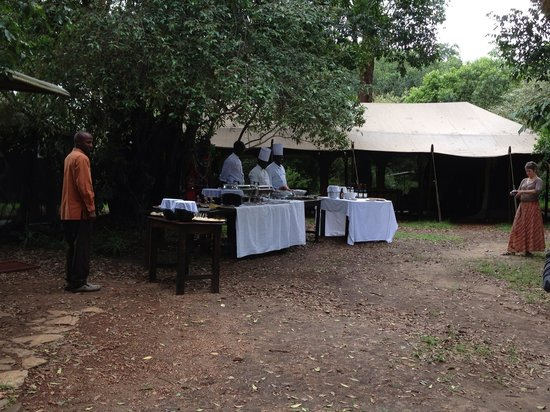 Christmas lunch at Mara Bush Camp