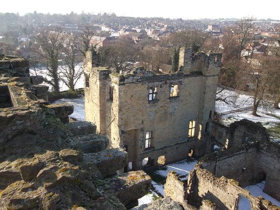 Ashby de la Zouch Castle:                   View from the top of Castle ruins