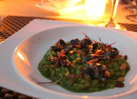 Taste Restaurant at Casa Cupula: Arroz con piñones...mmm!!
