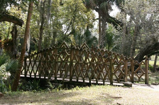Koreshan State Historic Site:                   Koreshan built bridge