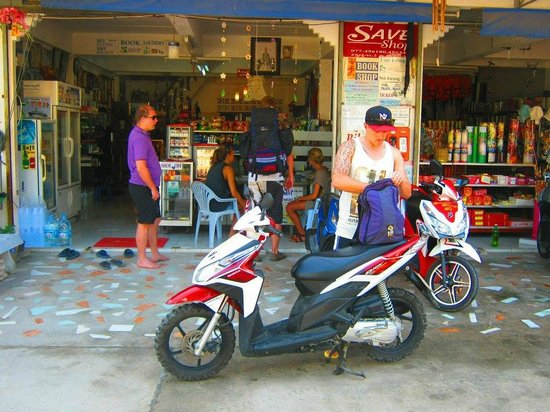 Save Bungalows:                   Save general store and scooter hire