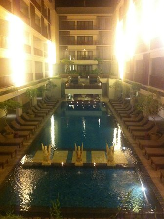 The Magani Hotel and Spa:                   All the rooms look onto the pool. so there is no privacy and no room to run ar