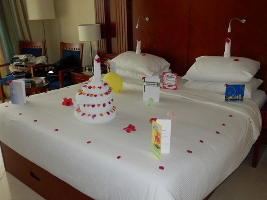 Towel art Happy Birthday Picture of Xperience Sea Breeze Resort