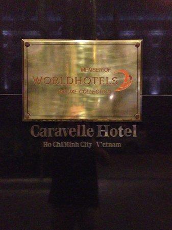 Caravelle Saigon:                   name plate