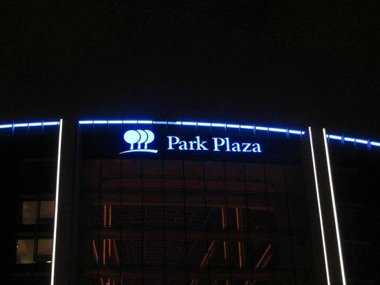 Park Plaza Westminster Bridge London:                   Hotel sign at night