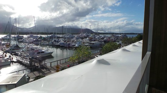 Shangri-La Hotel, The Marina, Cairns:                   View from our room