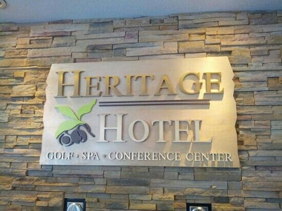 Heritage Hotel, Golf, Spa & Conference Center:                   A nice welcome