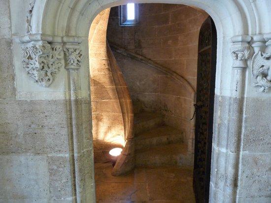Lonja de la Seda: Escalier en colimaçon sans axe !