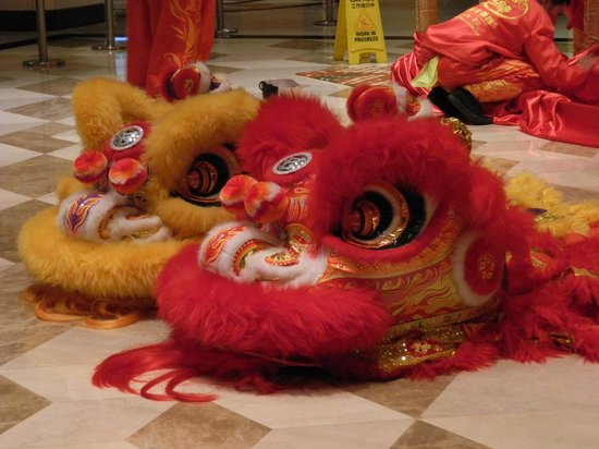 Sheraton Hong Kong Hotel & Towers:                   Chines Dragon Dance heads