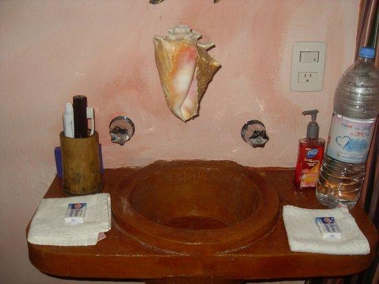 Pacha Tulum:                   bathroom sink