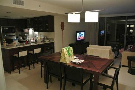 Trump International Hotel Waikiki:                   looking at the dining/living area from bedroom area 1br condo