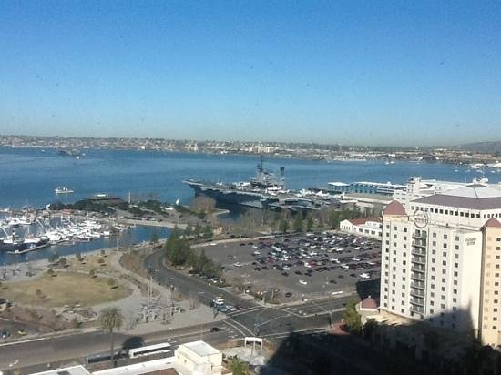 Manchester Grand Hyatt San Diego:                   21st floor view.