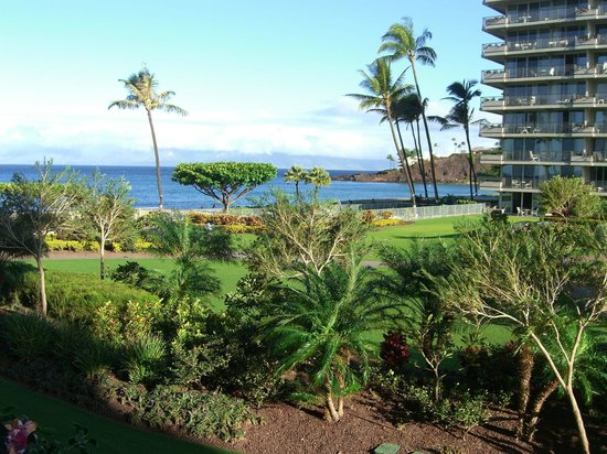 Aston at The Whaler on Kaanapali Beach:                   View from our 2nd floor lanai