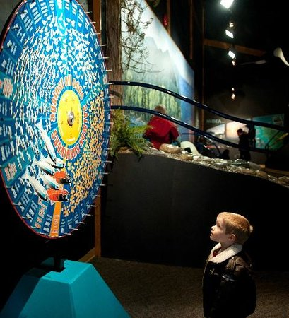 Quatse Salmon Stewardship Centre: Spin the Salmon Survival wheel!