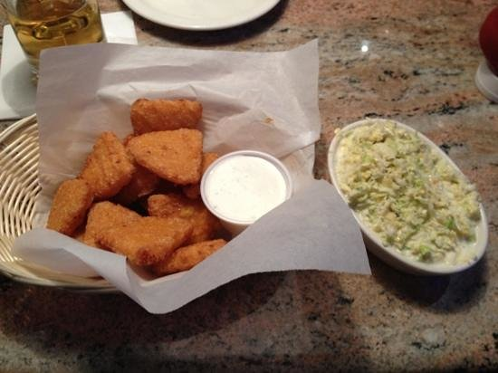 Jaspers Smokehouse & Steaks:                                     mac and cheese and coleslaw