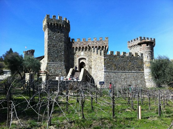 Castello di Amorosa:                   The castle on the hill