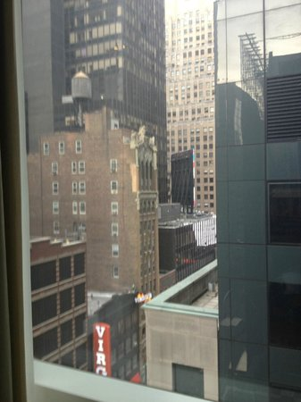 The Premier Hotel:                   View from window at back corner of room