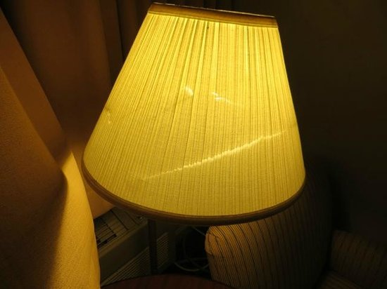 Yosemite View Lodge: Lampshade showing signs of wear