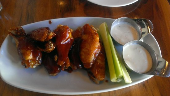 Knuckles at the Wharf:                   Wings were tasty.