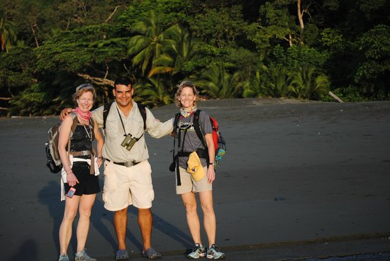 Finca Exotica Ecolodge :                   On the beach headed to Corcovado