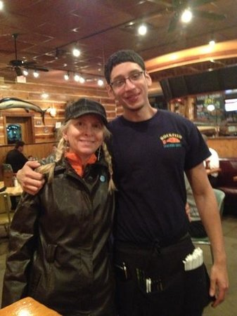 Rockfish Seafood Grill: me and Freddie at Rockfish