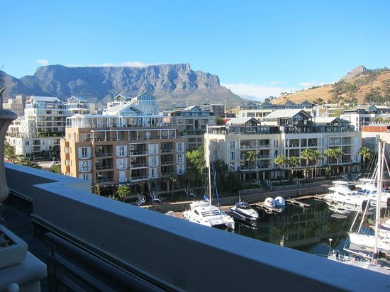 Cape Grace:                   View from our room of Table mountain