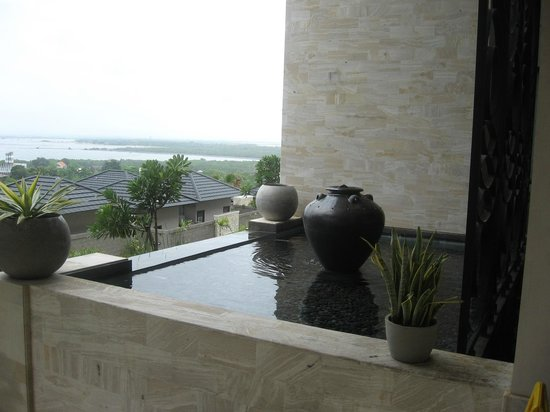 Park Hotel Nusa Dua :                   Another view of the water feature in front of the hotel