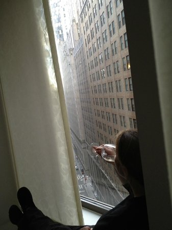 Andaz Wall Street :                   A glass of wine while enjoing the view