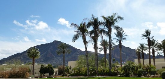 JW Marriott Scottsdale Camelback Inn Resort & Spa:                   Camelback Mountain from The Inn